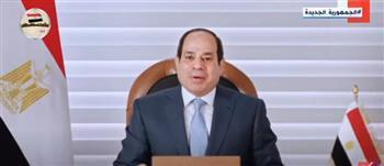 الرئيس السيسي: نصيب الفرد من المياه في مصر لا يتجاوز 560 مترًا مكعبًا سنويًا