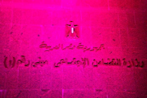 وزارة التضامن تضيء مبناها بـ الوردي دعمًا لـ مرضى سرطان الثدي