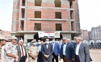 محافظ الشرقية يتفقد أعمال إنشاء 50 عمارة سكنية في الزقازيق