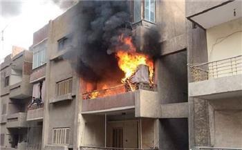 السيطرة علي حريق شب داخل شقة سكنية بالوراق دون إصابات
