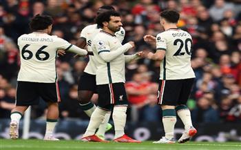 الدوري الإنجليزي.. ليفربول يتفوق على مانشستر يونايتد بثنائية بعد مرور نصف ساعة