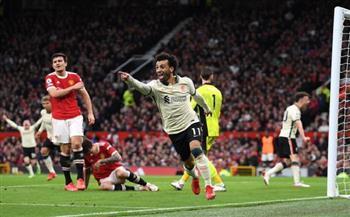 الدورى الإنجليزى.. صلاح يصنع ويسجل هدفين فى مانشستر يونايتد بالشوط الأول