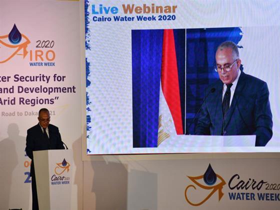 العميد خالد عكاشة: أسبوع المياه فى القاهرة شَرَح الرؤية المصرية لترشيد استخدام الموارد المائية