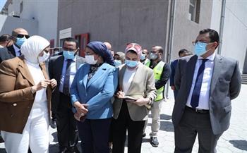 """وزيرة الصحة تتفقد مجمع مصانع """"فاكسيرا"""" لإنتاج الأمصال واللقاحات بـ6 أكتوبر"""