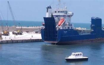 تصدير 5500 طن أسمنت أبيض إلى اليونان عبر ميناء العريش البحري