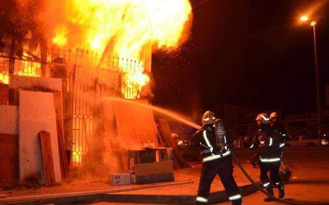 انتداب المعمل الجنائي لمعاينة حريق داخل كنيسة بالمرج