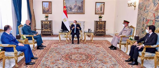 الرئيس السيسي خلال استقباله قائد الجيش اللبناني: حريصون على استقرار لبنان