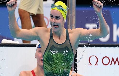 طوكيو 2020.. السباحة الأسترالية ماكيون تتوج بذهبية سباق 200 متر ظهر