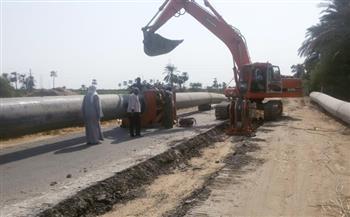 محافظة الأقصر: رئيس مدينة الزينية يبحث سرعة إنهاء العمل بمشروع الصرف الصحي