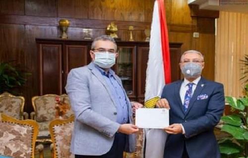 الدكتور «أحمد نصر » قائمًا بأعمال عميد هندسة طنطا