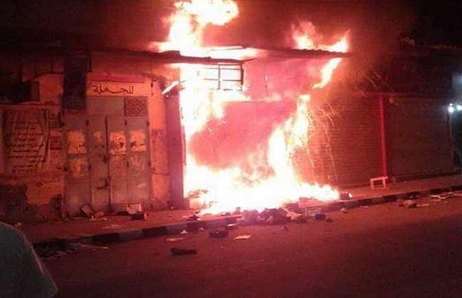 حريق محل تجاري بالعياط
