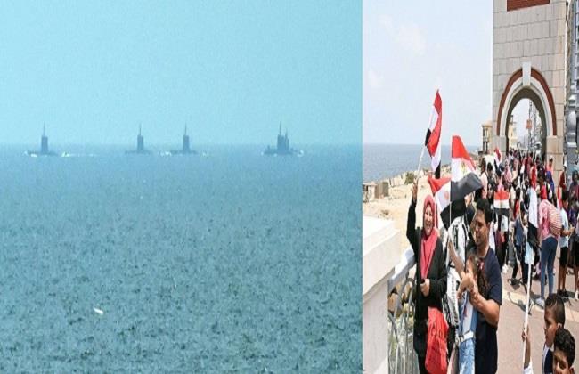 «فخورين ببلدنا ورئيسنا».. رسائل المواطنين للرئيس السيسي بعد انضمام الغواصة (S-44) للبحرية