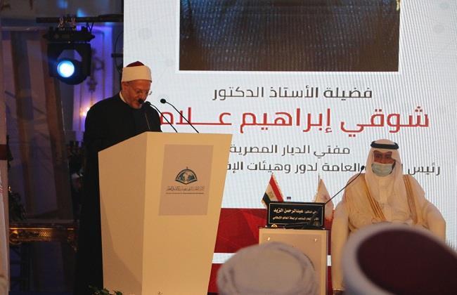 مفتي الجمهورية في «دار الإفتاء»: الرئيس السيسي أدرك مخاطر الجماعات الإرهابية على العالم