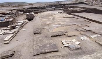 اكتشاف بعض الأدوات المستخدمة في الطقوس الدينية بمعبد تل الفراعين