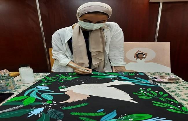 في اليوم العالمي للسلام.. معرض فن تشكيلي بمكتبة مصر الجديدة